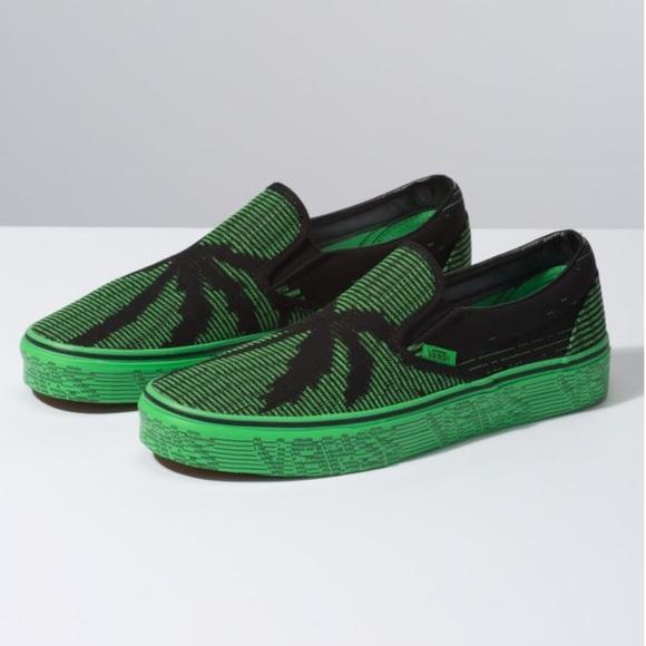 vans classic green